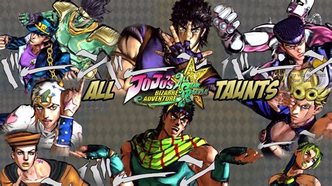 Anime Jojos Adventure And You Dont Jojos Jojo S Adventure All Battle All Taunts