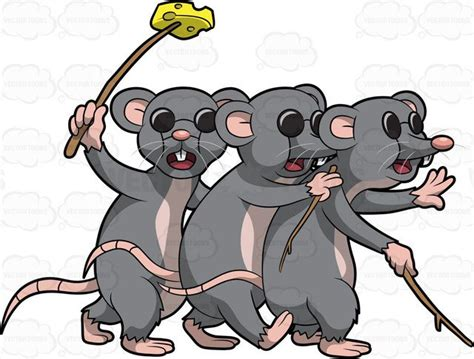 three blind mice three blind mice clipart vector
