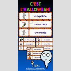 French Halloween Word Wall + Scavenger Hunt  Vocabulaire #francais  French Learning French