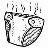Cartoon Diapers Diaper Clip Clipart Clipartion sketch template