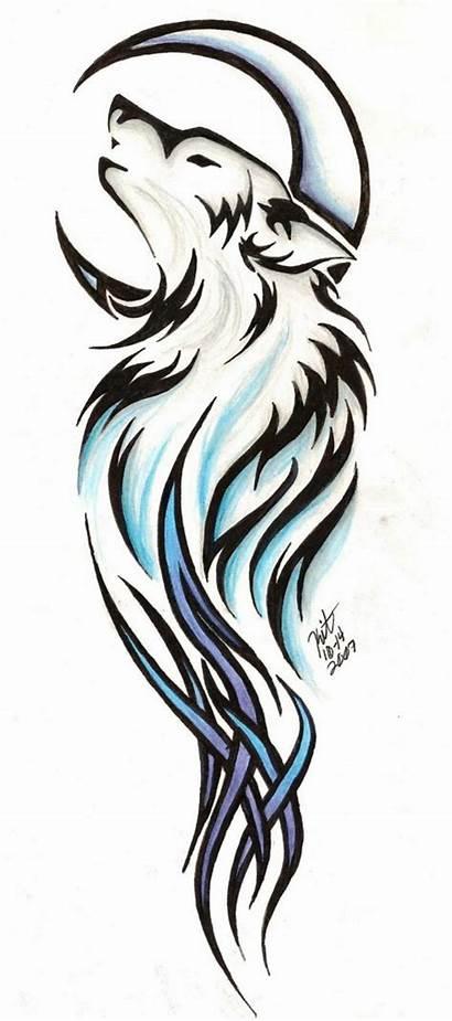 Wolf Tattoo Tribal Clip Designs Tattoos Vector