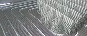 Galvanized Wire Mesh Panels For Slab Floor Radiant Heating System