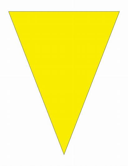 Triangle Yellow Clipart Banner Flag Clip Cliparts