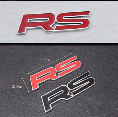 Rs Type Car Logo Stickers Zine 3d Metal Emblem Refitting