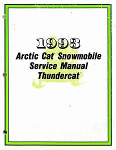 1993 Arctic Cat Thundercat Snowmobile Service Manual