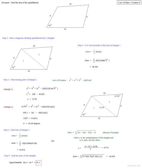of sines and cosines review worksheet breadandhearth