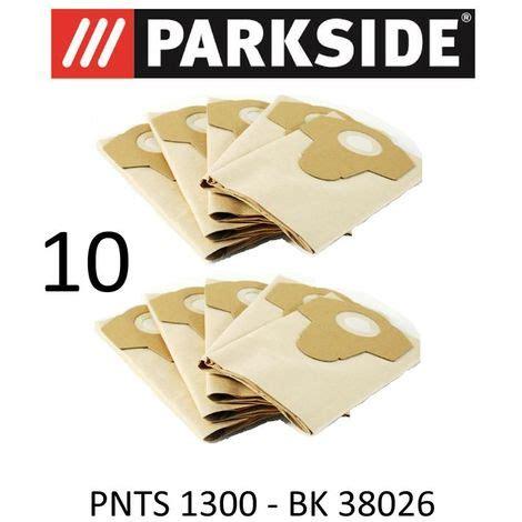 10 sacs d aspirateur parkside pnts 1300 20 l lidl bk 38026 marron 906 05 parkside aspirateur