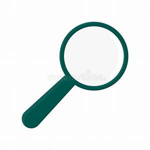 Vector Illustration Of A Magnifying Glass Icon Stock