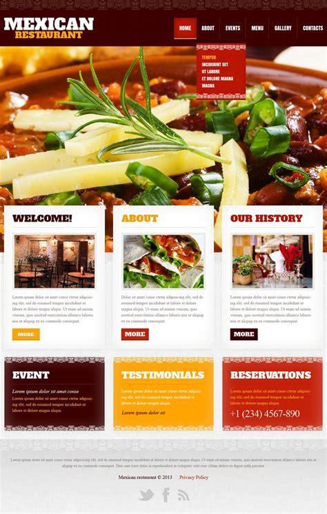 restaurant website templates mexican restaurant website template 42181