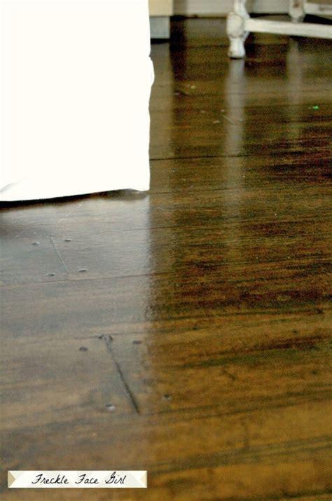 paper floor l remodelaholic faux wood plank floors using brown paper