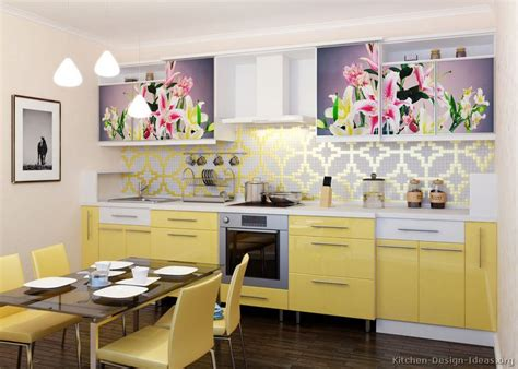 yellow and white kitchen cabinets pictures of modern yellow kitchens gallery design ideas 1985