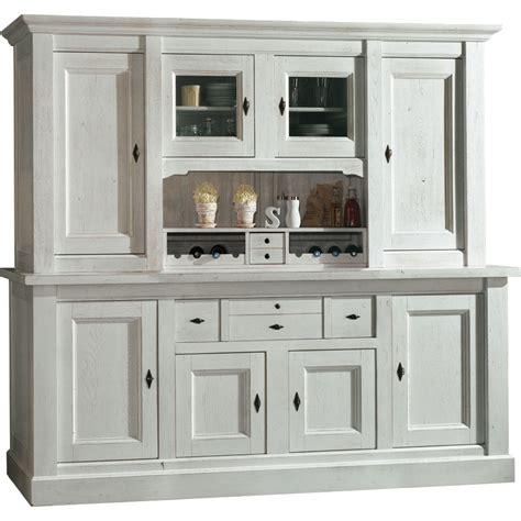 meuble billot cuisine bahut vaisselier 4 portes blanc meuble de cuisine