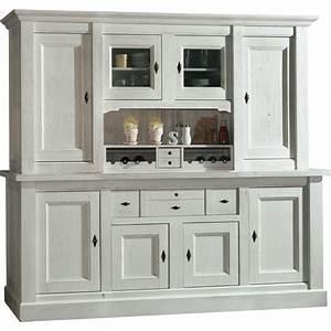 Bahut De Cuisine : bahut vaisselier 4 portes blanc meuble de cuisine ~ Edinachiropracticcenter.com Idées de Décoration