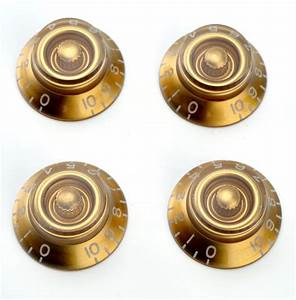 Lefty 4 Gold Bell Tophat Knobs Set Of Four