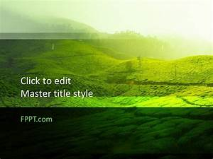 Miscrosoft Office 2010 Free Green Design Powerpoint Template Free Powerpoint