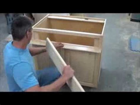 mounting false front  sink  range base cabinet youtube