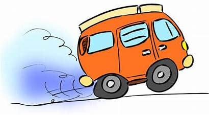 Van Cartoon Camping Clip Clipart Trip Travel