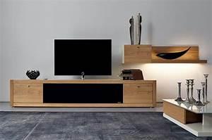 Meuble Tv Bois Design : meuble tv bois suspendu meuble tv suspendu led maisonjoffrois ~ Preciouscoupons.com Idées de Décoration