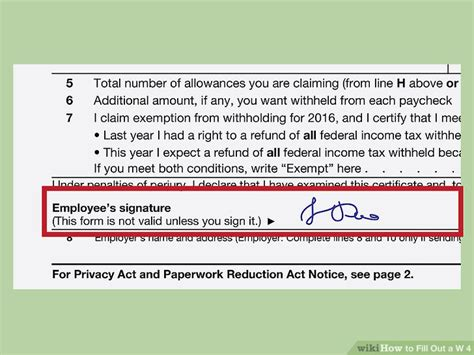 How To Fill Out W 4 Form For Dummies by How To Fill Out A W 4 With Pictures Wikihow
