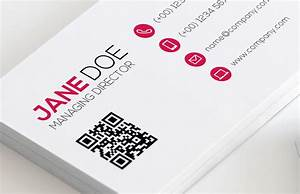 Qr code business card template vol 2 medialoot for Business card with qr code template