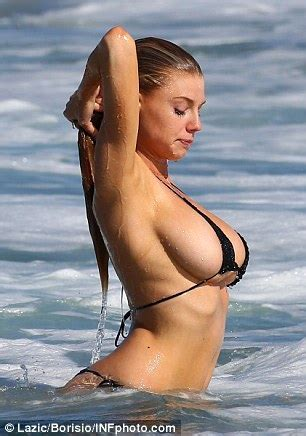 Charlotte Mckinney Gets Hands On With Her Assets Cavorting