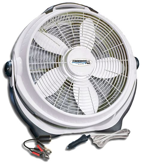 volt fan fans dc battery rv grid circulating inch solar power appliances run living camping cooling results amish sources cottagecraftworks
