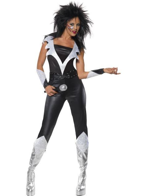 Rocker Kiss Glam Rock Fancy Dress Celebrity 70s Adult 1970s Costume Outfit New   eBay