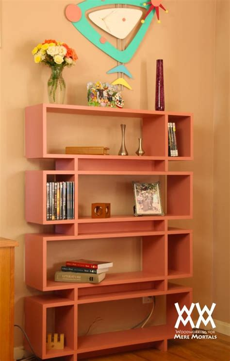 modern bookshelf plans woodworking projects plans