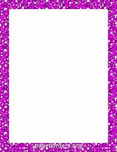 Printable purple glitter border. Use the border in ...