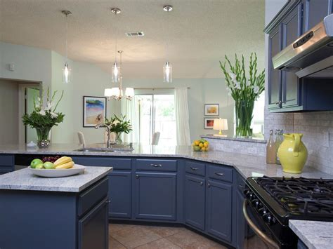 Kitchen With Blue Countertops Bathroom And Sinks