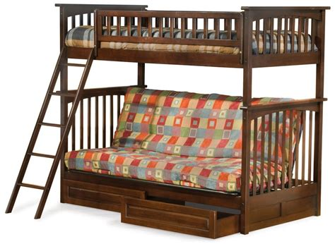 Wood Futon With Bunk Bed  Best Futons & Chaise Lounges