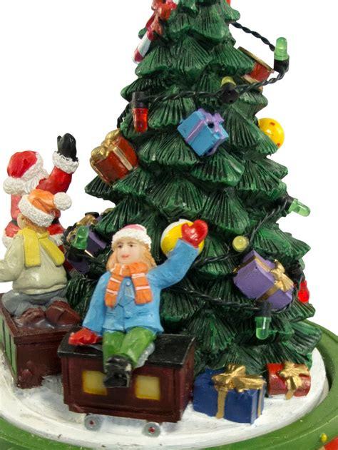 santa  train rotating  christmas tree wind