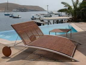 modern outdoor furniture from beltempo wood and metal