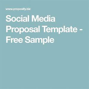 social media proposal template free sample social With social media rfp template
