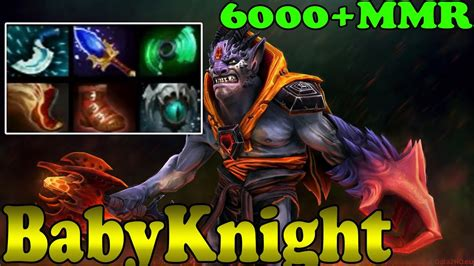 dota 2 babyknight 6000 mmr plays carry ranked match gameplay youtube