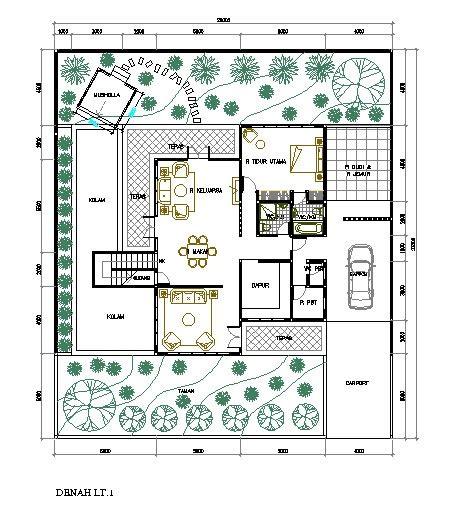 rumah minimalis cat abu abu terbaru denah rumah