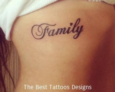 family word tattoo tumblr tattoos ideas  tattoos tattoos family tattoos