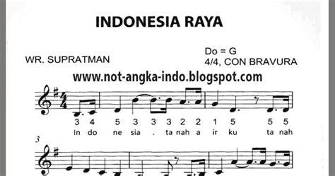 not angka lagu tanah airku not angka lagu indonesia raya not angka lagu indonesia