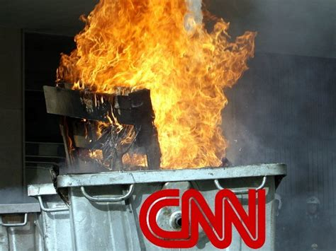 Dumpster Fire Meme - twitter roasts cnn for perceived threat to dox alleged creator of trump wrestling meme breitbart