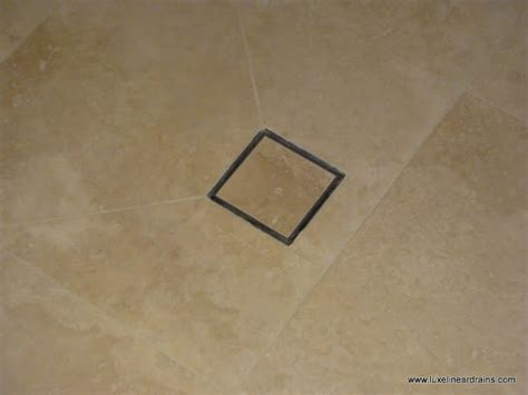 the luxe linear drains square tile insert point drain a