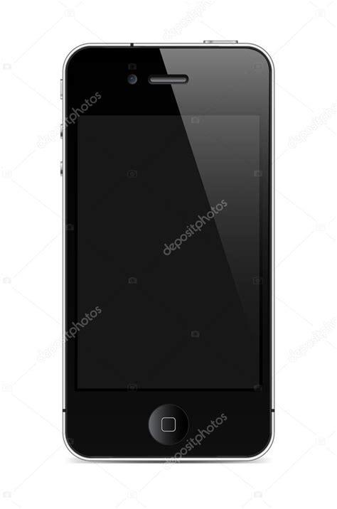 Teléfono móvil con pantalla similar al iphone — Vector de