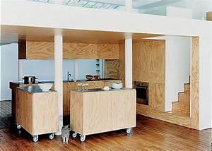 les panneaux de bois dans nos interieurs resolument With cuisine bois design