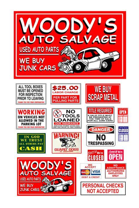 ho scale model automobile auto salvage junk yard