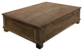 Primitive Living Room Wall Decor by Rustic Solid Hardwood Large Storage Trunk Coffee Table