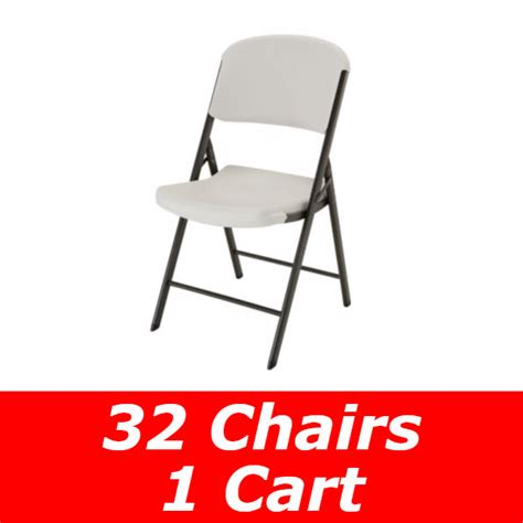 lifetime 32 pack of chairs storage cart free shipping