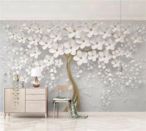 elegant white flower wallpaper luxury jewelry  custom
