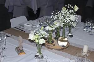 Decoration De Table Pour Mariage : decoration florale mariage champetre ~ Teatrodelosmanantiales.com Idées de Décoration
