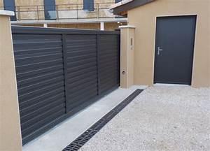 portail de garage coulissant portail de garage coulissant With porte de garage coulissante jumelé avec ouverture de porte paris 1
