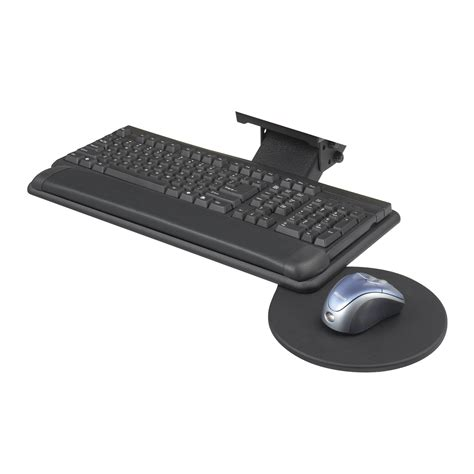 keyboard attachment for desk adjustable keyboard platform with swivel mouse tray