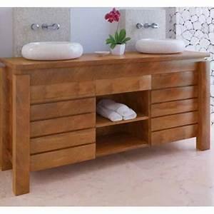 Meuble De Salle De Bain En Teck : meuble de salle de bain ambiance du monde ~ Edinachiropracticcenter.com Idées de Décoration